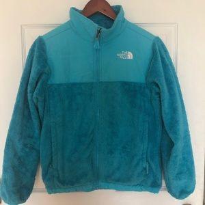 The North face fleece zip up jacket warm coat